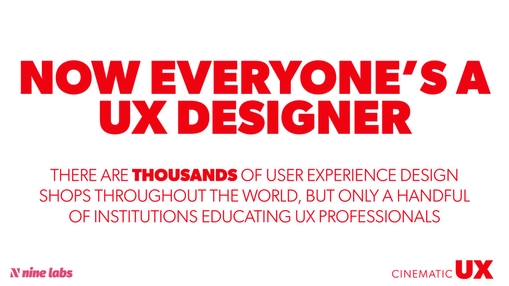 @sbradweaver NOW EVERYONE'S A UX DESIGNER UX CI...