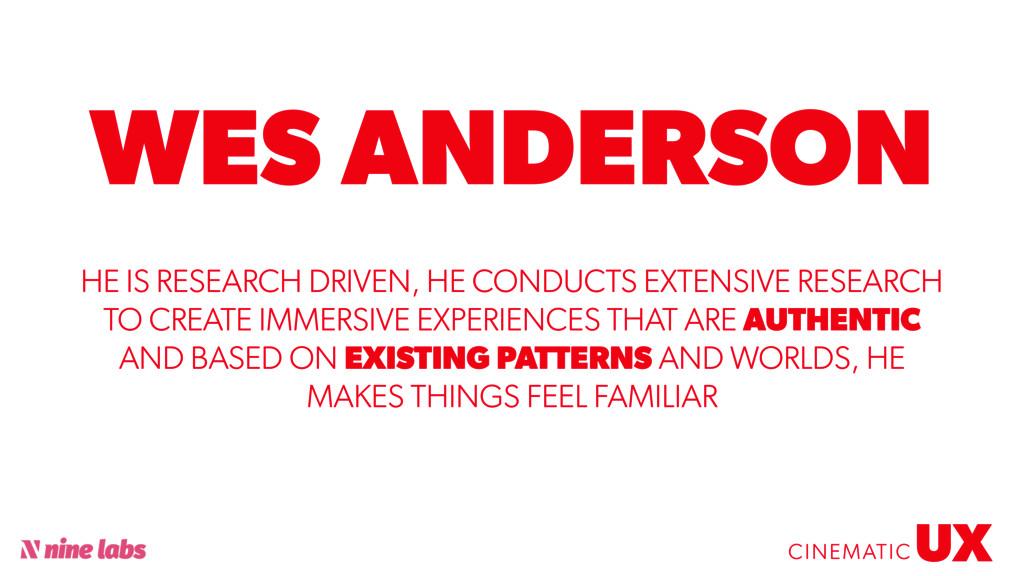 @sbradweaver WES ANDERSON UX CINEMATIC HE IS RE...