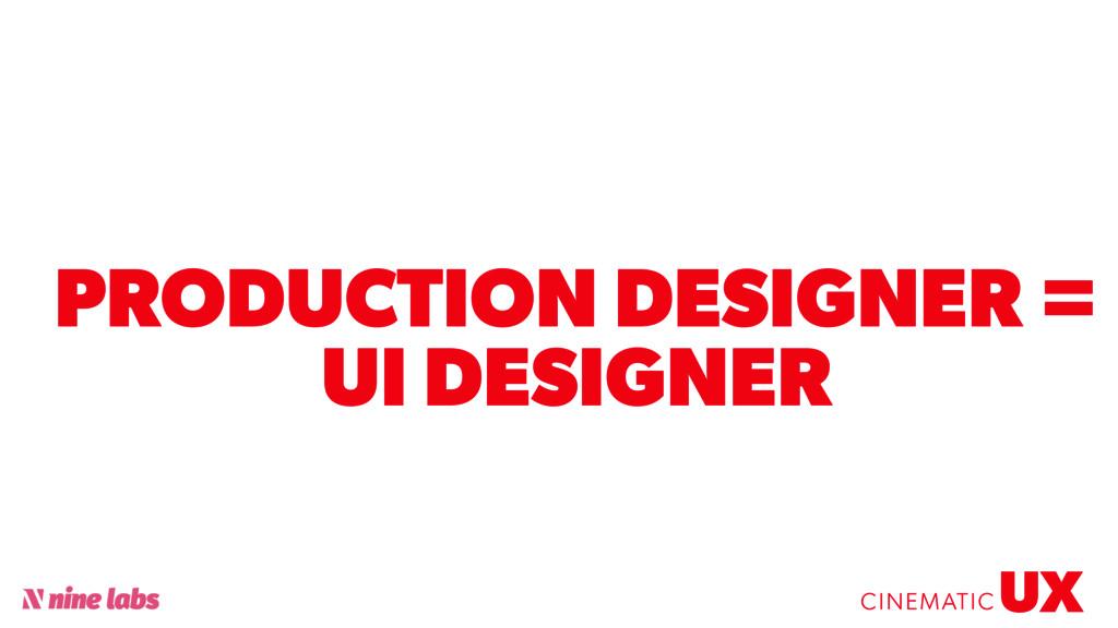 @sbradweaver PRODUCTION DESIGNER = UI DESIGNER ...