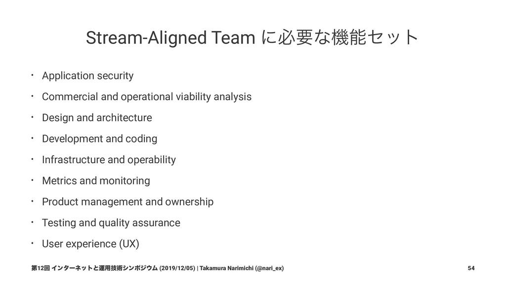 4ͭͷνʔϜλΠϓ Stream-Aligned Team ৫ͷओཁͳνʔϜλΠϓͰ͋Γɺ...