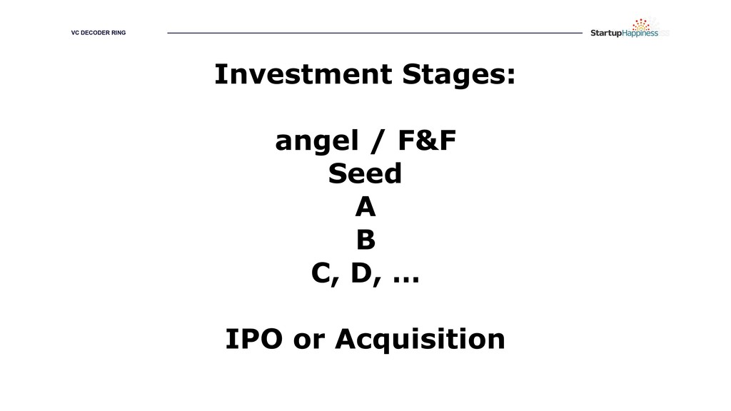 GROWING YOUR HAPPINESS Investment Stages: angel...