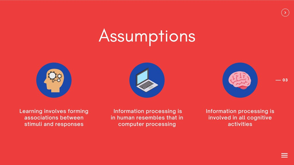 03 Assumptions Information processing is in hum...