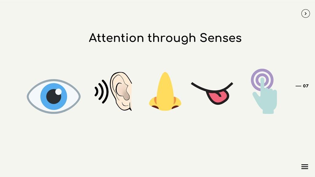 Attention through Senses 07