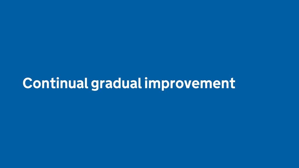 Continual gradual improvement