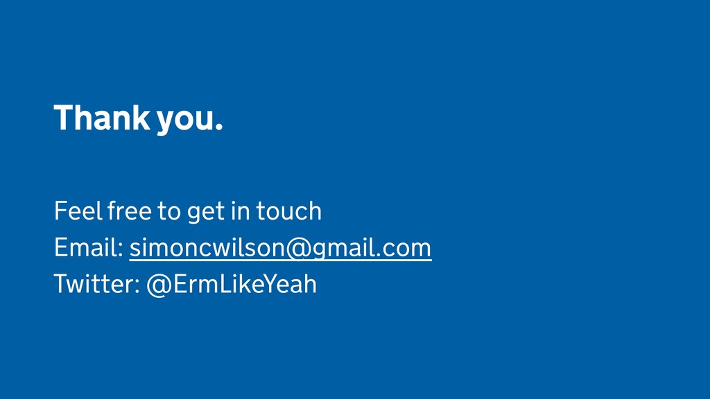 Thank you.  Feel free to get in touch Email: si...