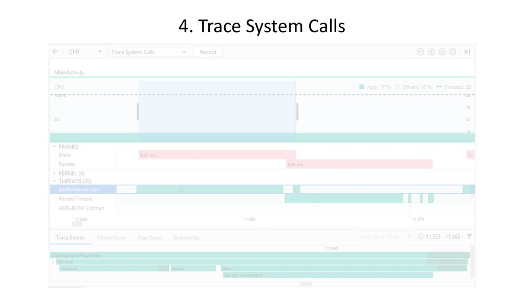 4. Trace System Calls