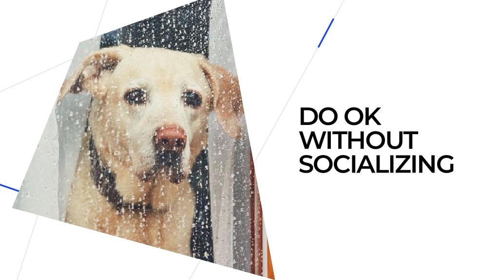 DO OK WITHOUT SOCIALIZING