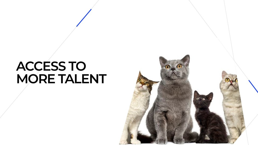 ACCESS TO MORE TALENT
