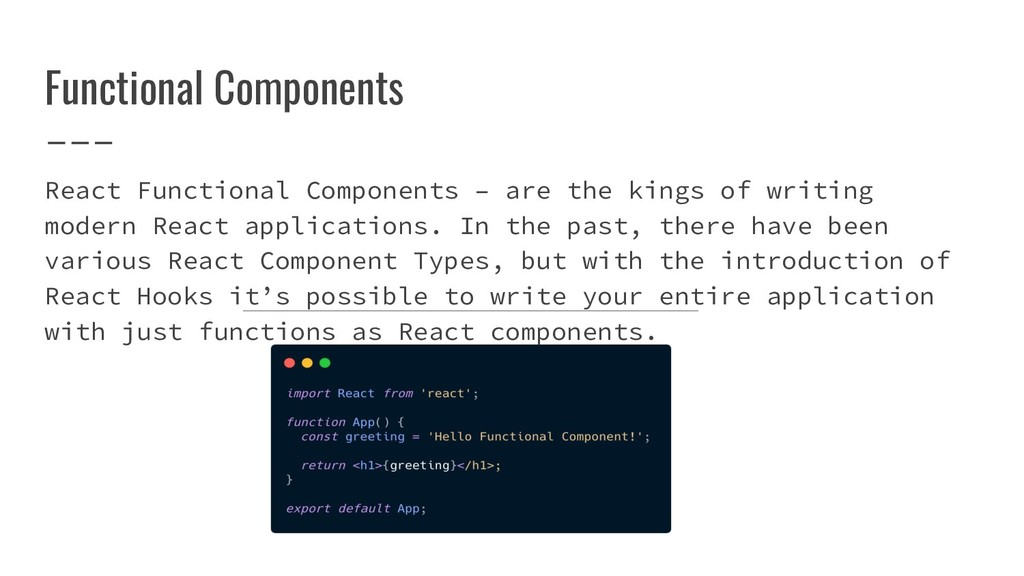 Functional Components React Functional Componen...