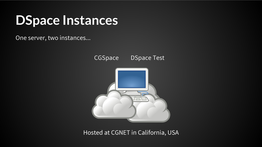 DSpace Instances Hosted at CGNET in California,...