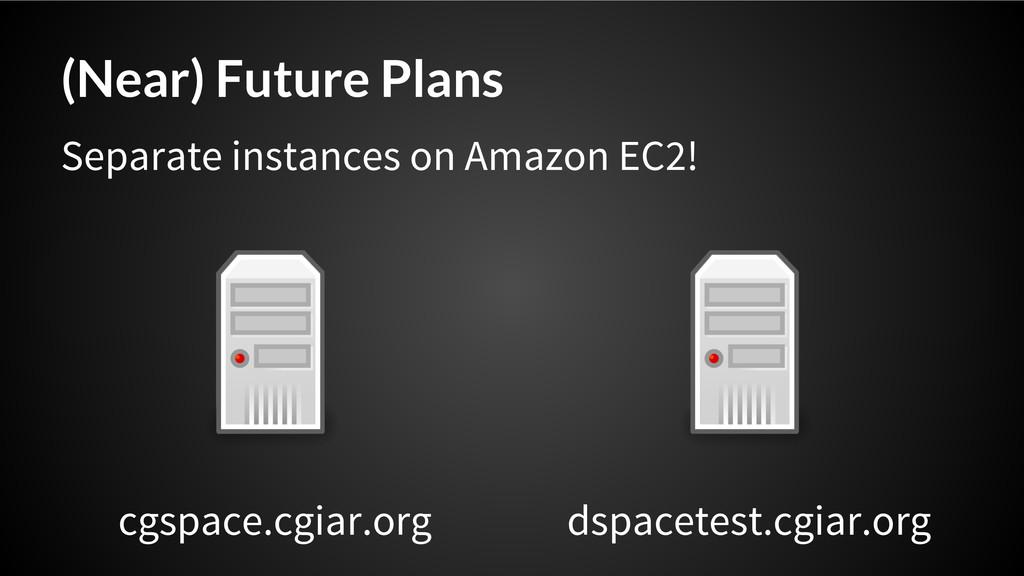 (Near) Future Plans cgspace.cgiar.org dspacetes...