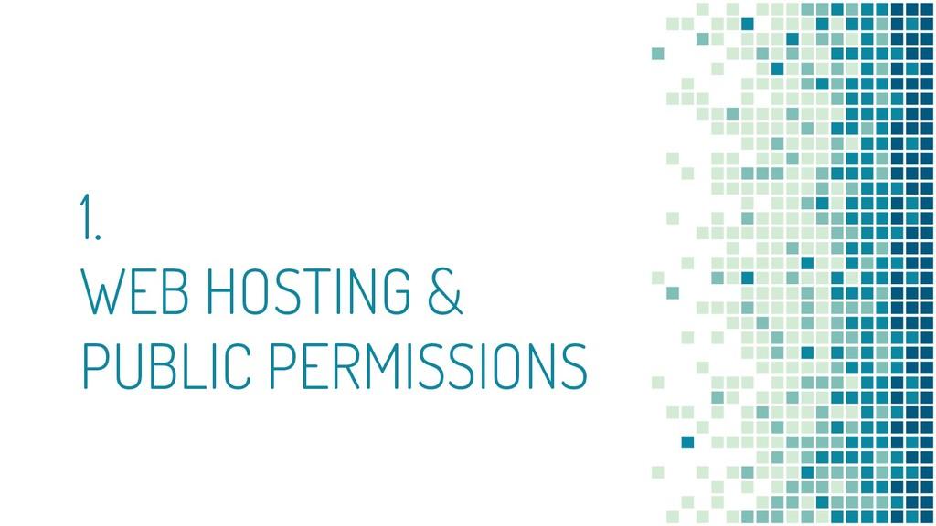 1. WEB HOSTING & PUBLIC PERMISSIONS