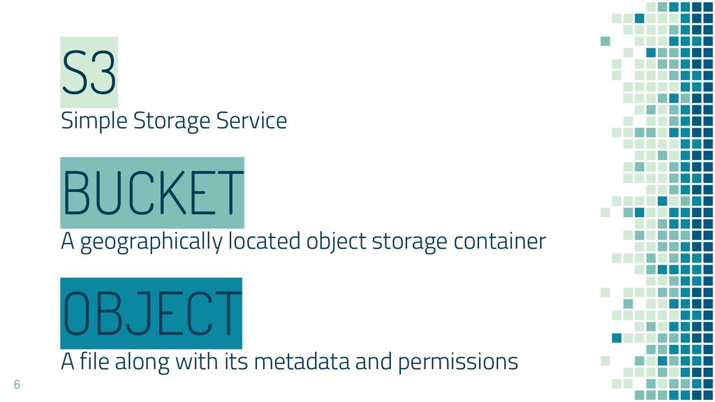 S3 Simple Storage Service OBJECT A file along w...