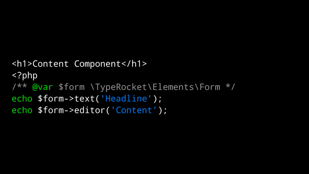 <h1>Content Component</h1> <?php /** @var $form...
