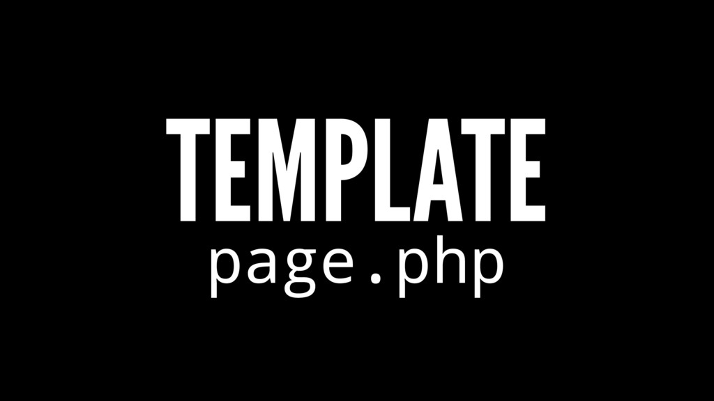 TEMPLATE page.php