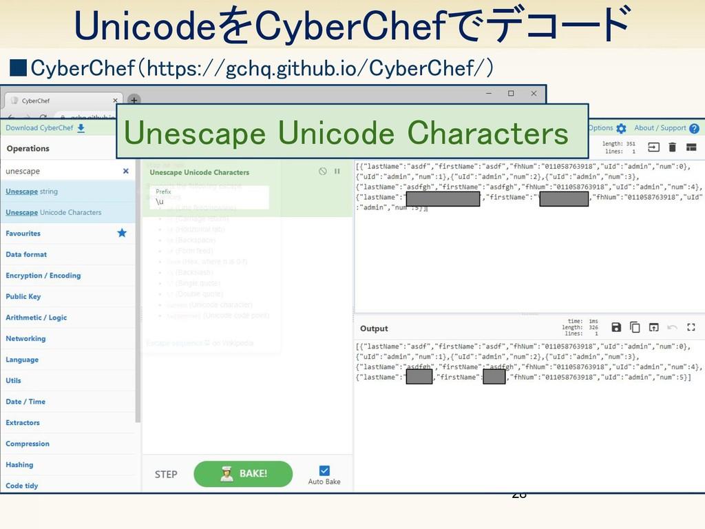 UnicodeをCyberChefでデコード 28 ■CyberChef(https://g...