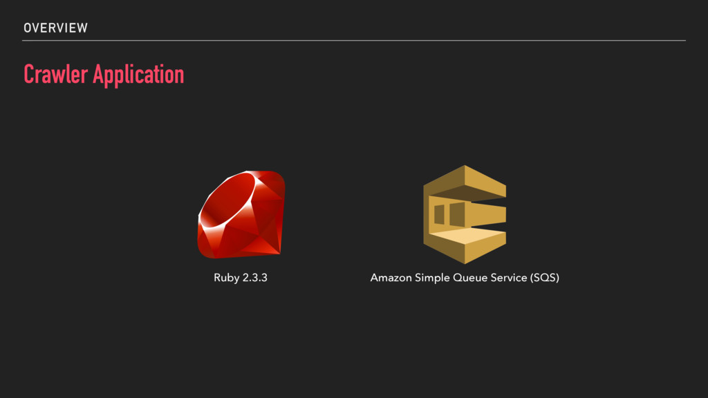 OVERVIEW Crawler Application Ruby 2.3.3 Amazon ...