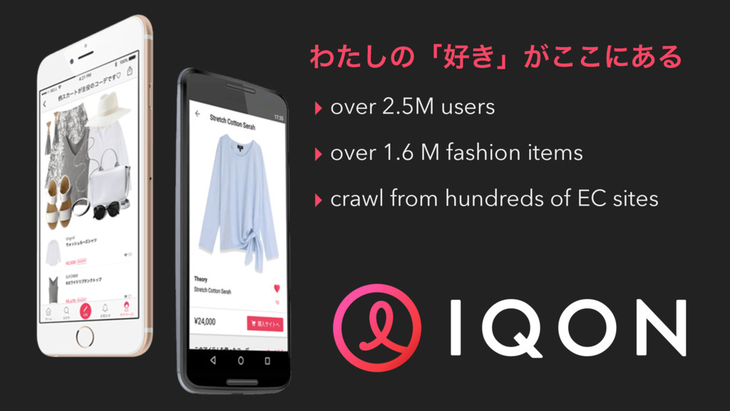 ▸ over 2.5M users ▸ over 1.6 M fashion items ▸ ...
