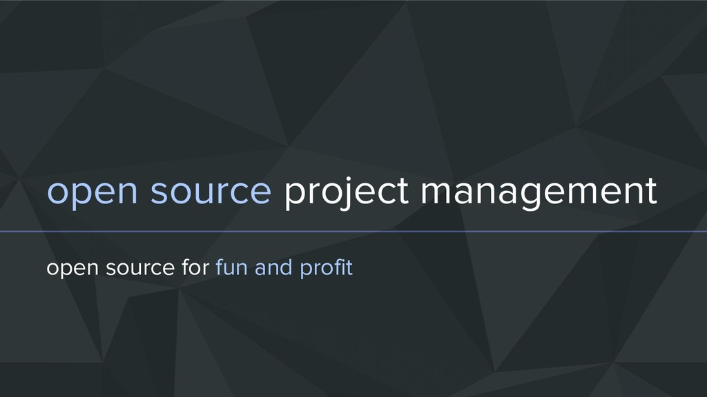 open source project management open source for ...