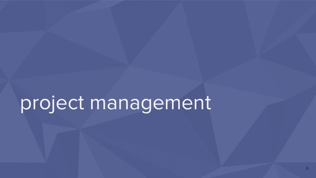 project management 6