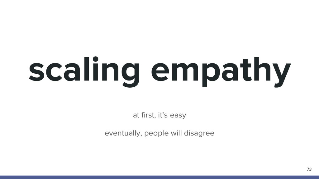 scaling empathy 73 at first, it's easy eventual...