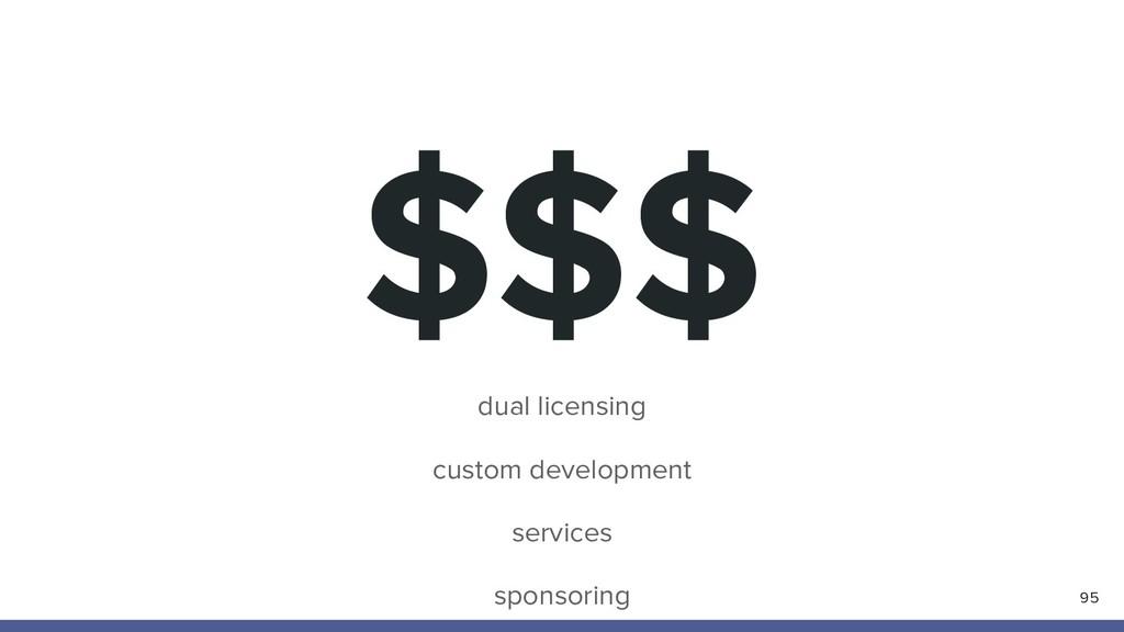 $$$ 95 dual licensing custom development servic...