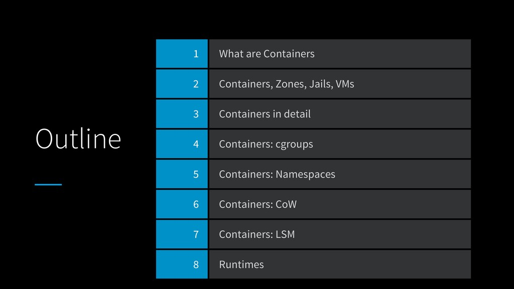 Outline 1 What are Containers 2 Containers, Zon...