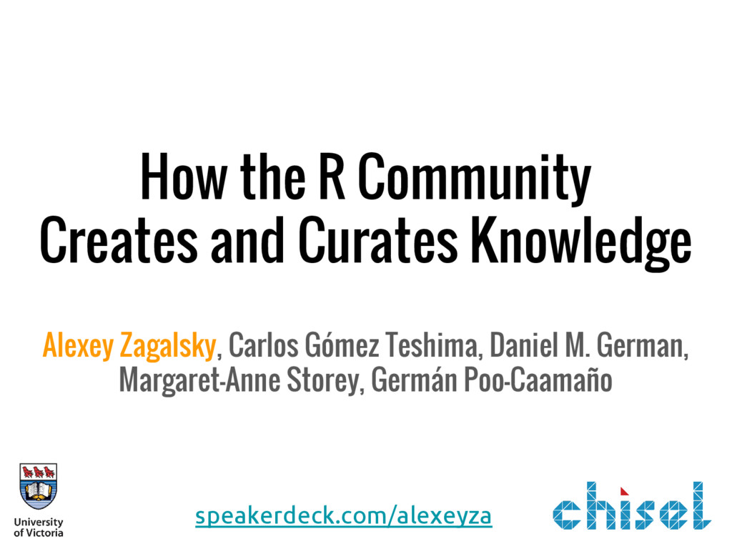 How the R Community Creates and Curates Knowled...