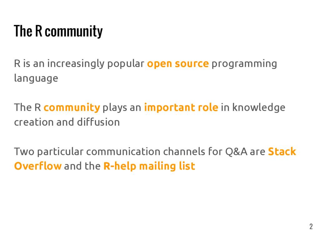 R is an increasingly popular open source progra...