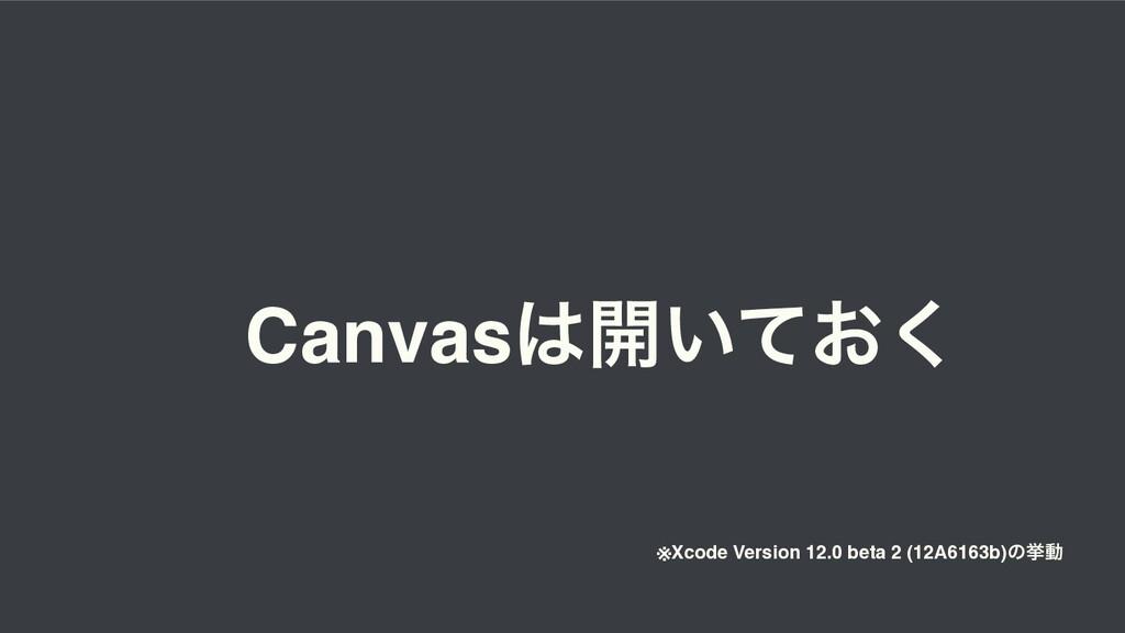 Canvas։͍͓ͯ͘ ※Xcode Version 12.0 beta 2 (12A616...