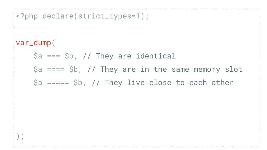 <?php declare(strict_types=1); de var_dump( $a ...