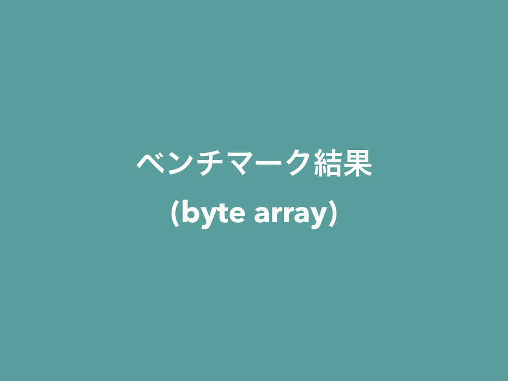 ϕϯνϚʔΫ݁Ռ (byte array)