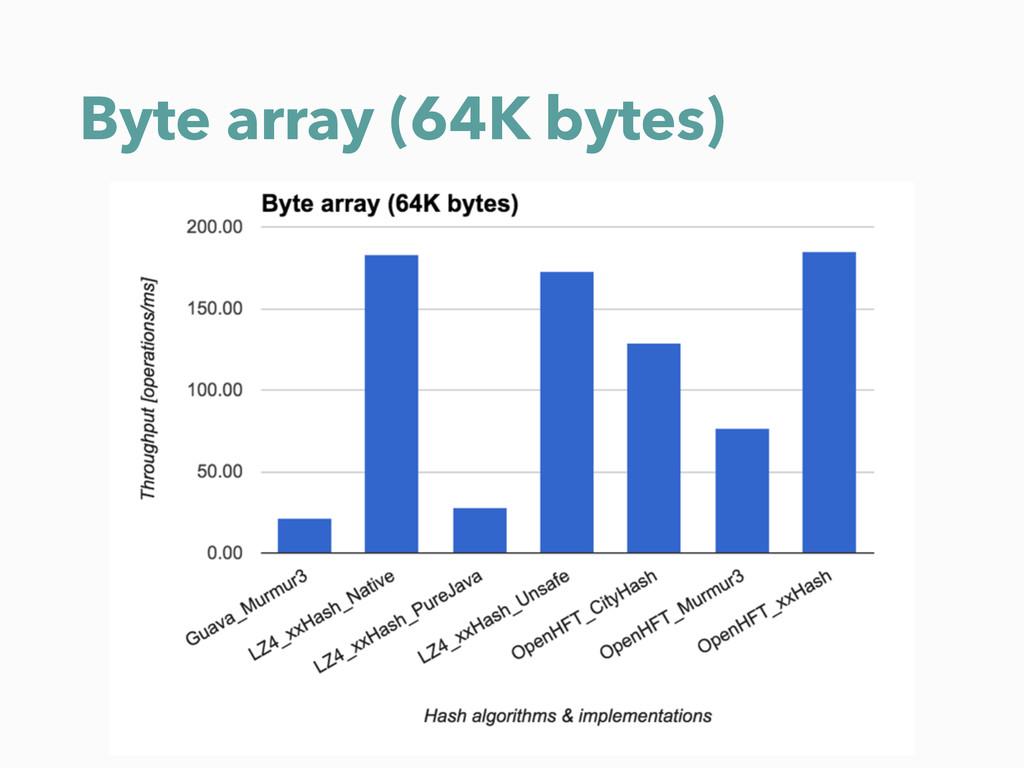 Byte array (64K bytes)