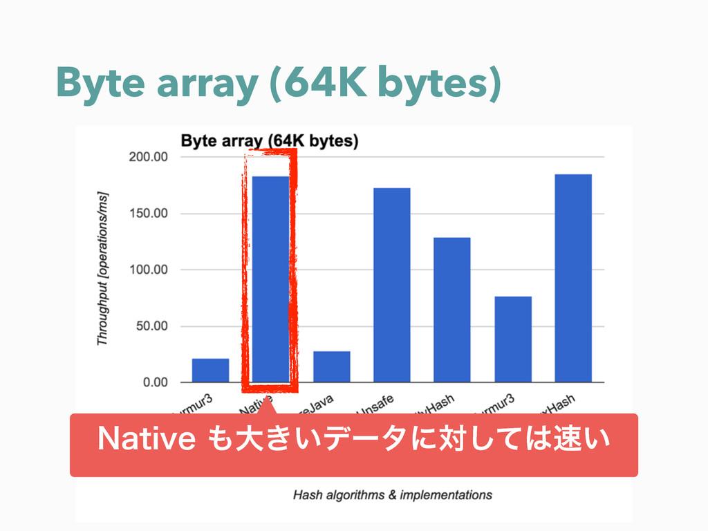 Byte array (64K bytes) /BUJWFେ͖͍σʔλʹର͍ͯ͠