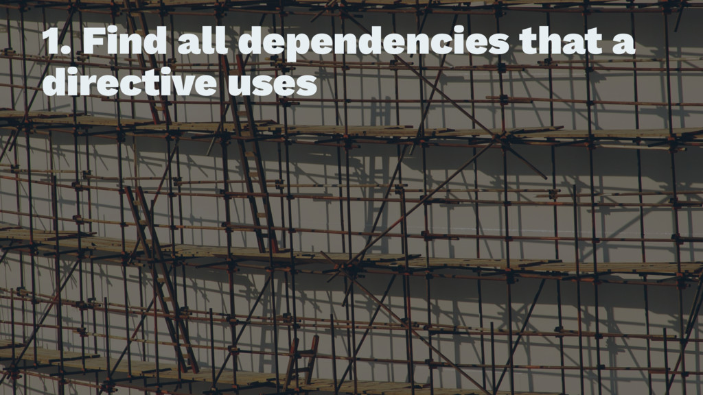 1. Find all dependencies that a directive uses