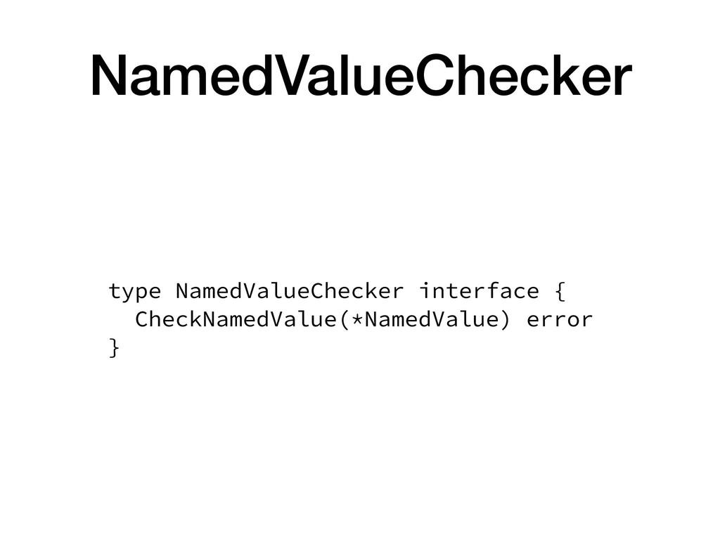 NamedValueChecker type NamedValueChecker interf...