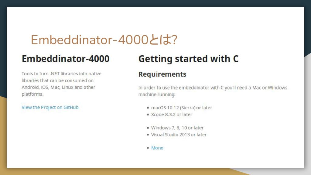 Embeddinator-4000とは?