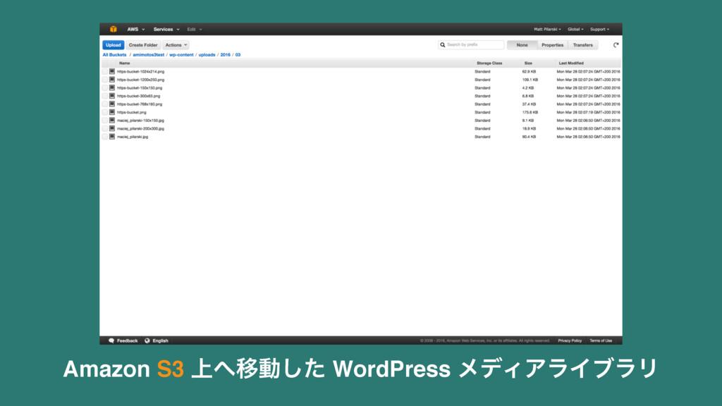 Amazon S3 ্Ҡಈͨ͠ WordPress ϝσΟΞϥΠϒϥϦ