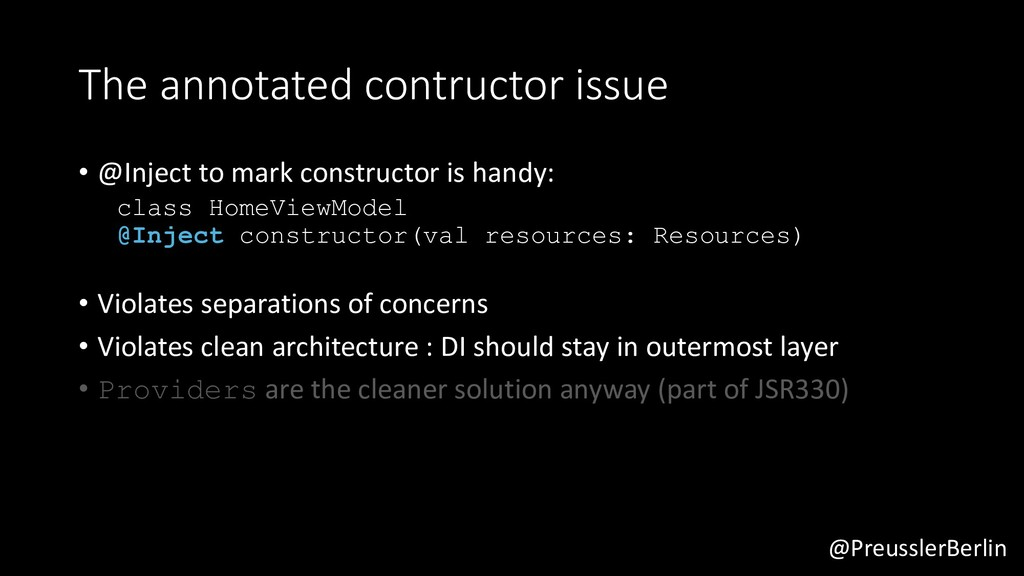 @PreusslerBerlin The annotated contructor issue...