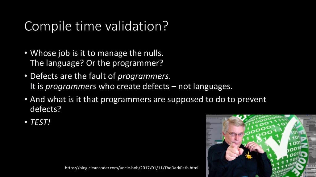 @PreusslerBerlin Compile time validation? • Who...