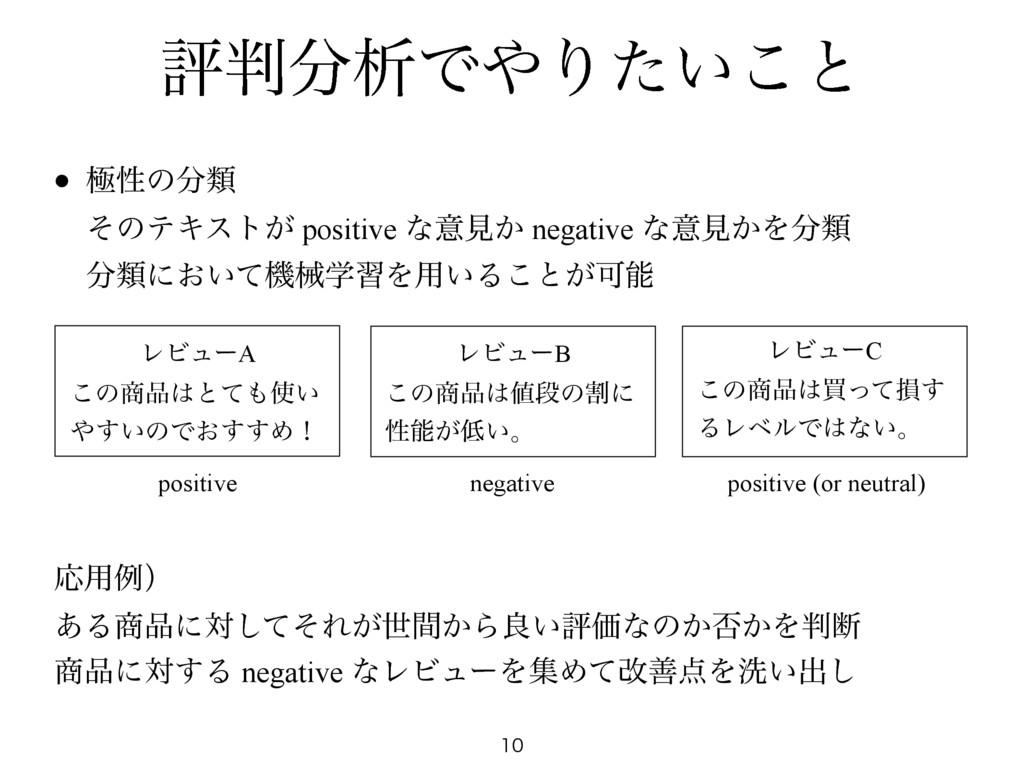 ධੳͰΓ͍ͨ͜ͱ  • ۃੑͷྨ ͦͷςΩετ͕ positive ͳҙݟ͔ n...