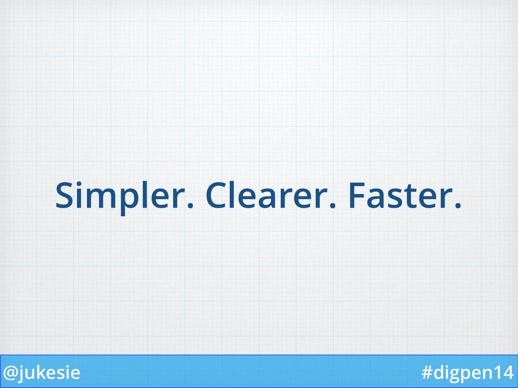 @jukesie #digpen14 Simpler. Clearer. Faster.