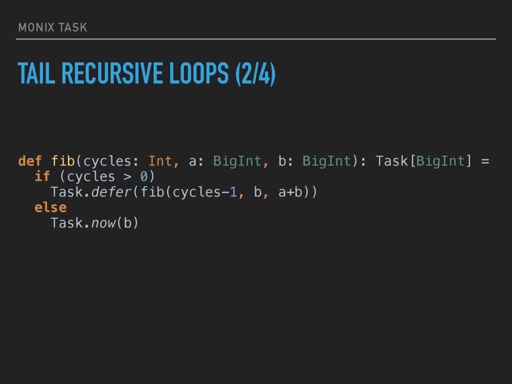 MONIX TASK TAIL RECURSIVE LOOPS (2/4) def fib(c...