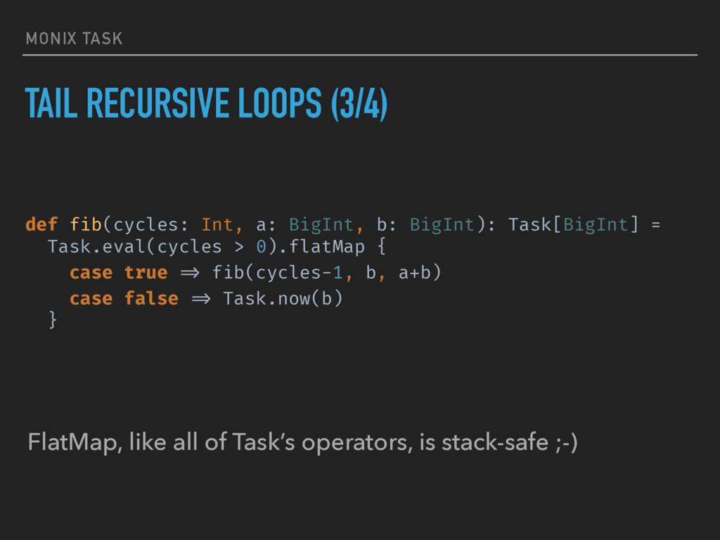 MONIX TASK TAIL RECURSIVE LOOPS (3/4) def fib(c...