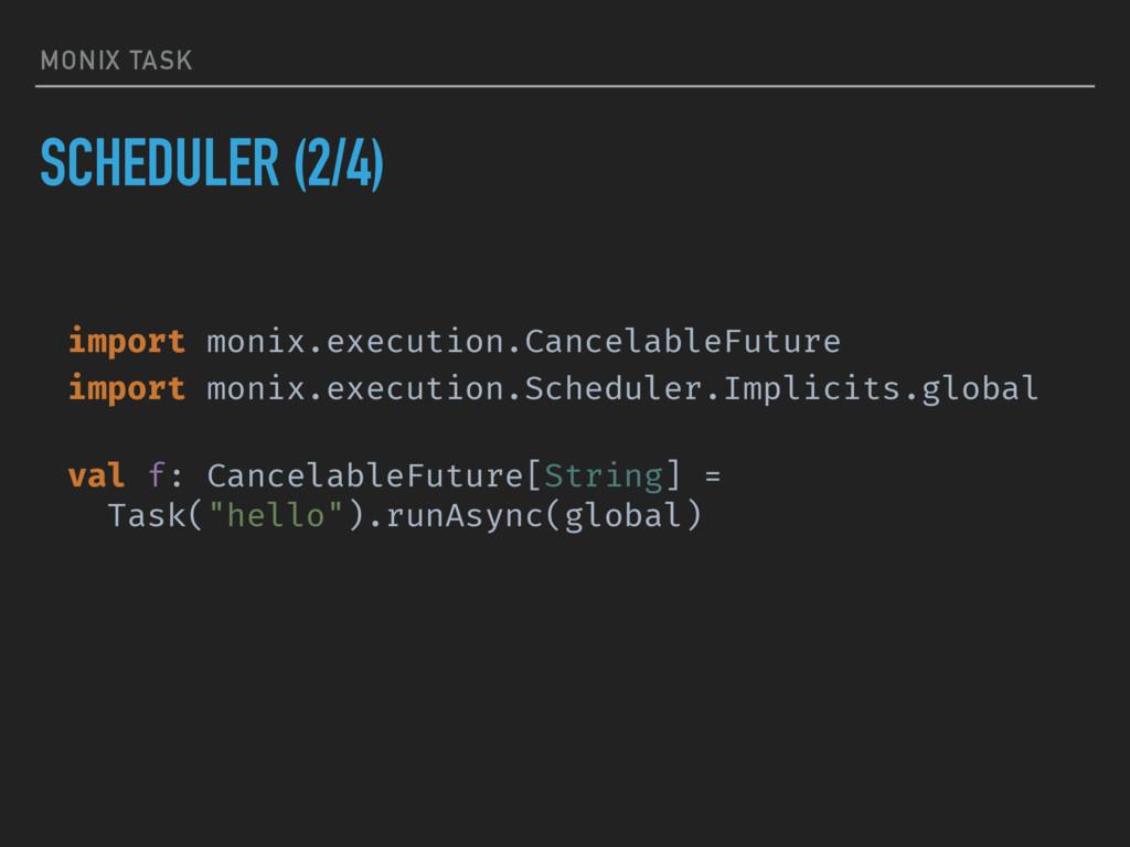 MONIX TASK SCHEDULER (2/4) import monix.executi...