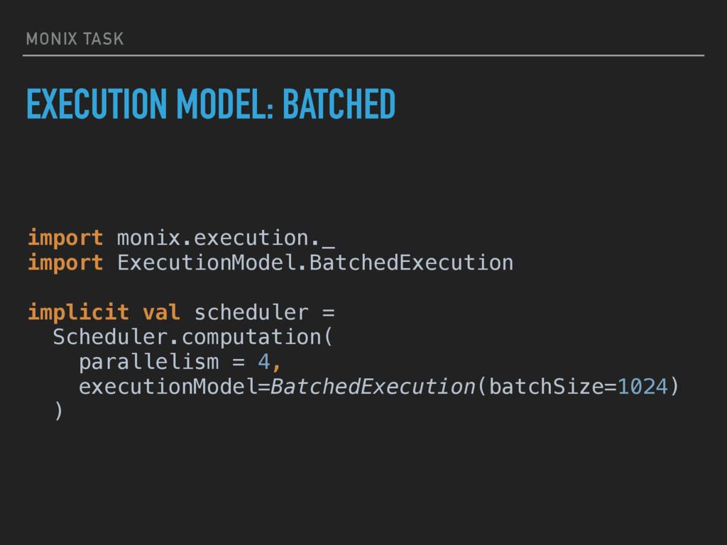 MONIX TASK EXECUTION MODEL: BATCHED import moni...