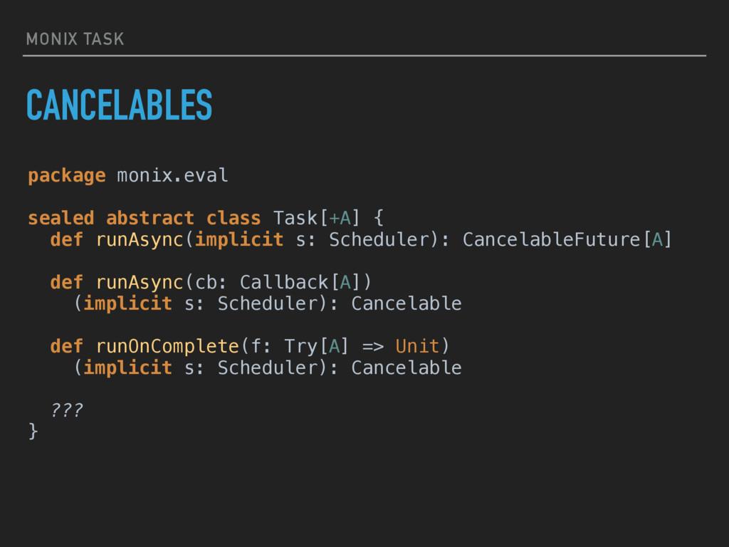 MONIX TASK CANCELABLES package monix.eval  se...