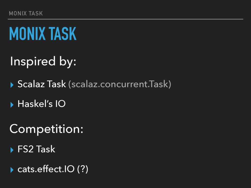 MONIX TASK MONIX TASK ▸ Scalaz Task (scalaz.con...