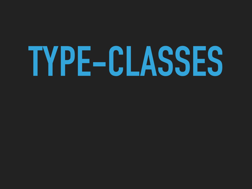 TYPE-CLASSES