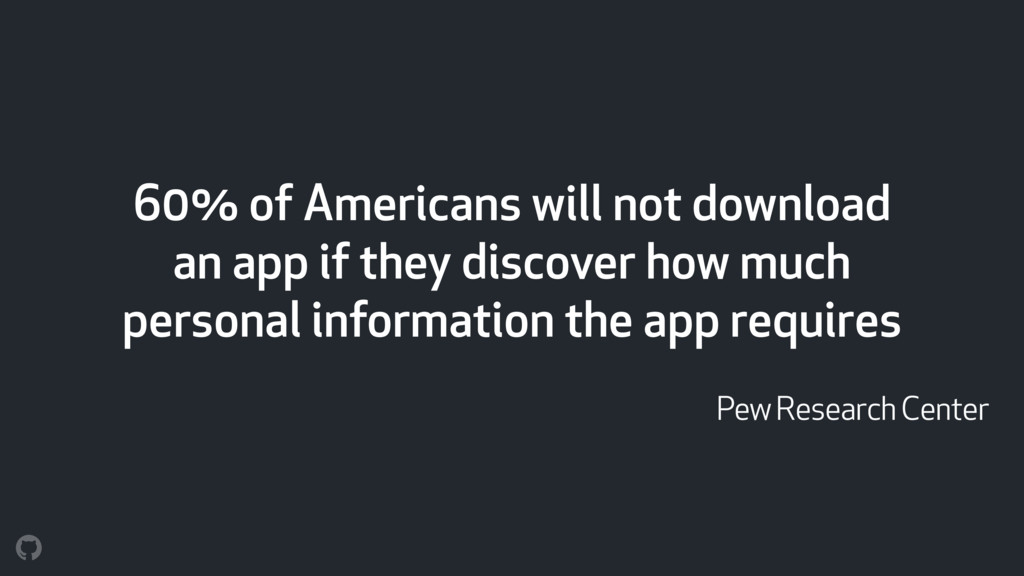 60% of Americans will not download an app if th...